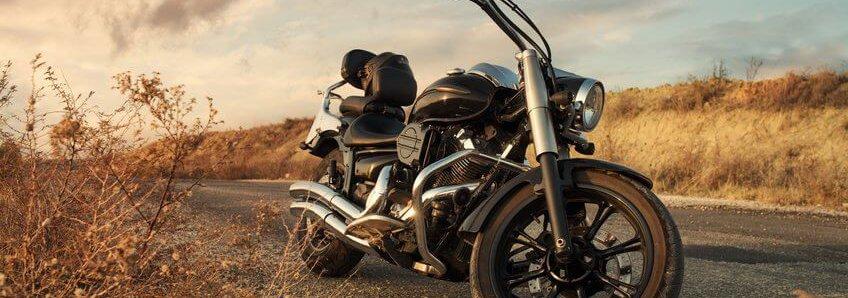 Motorcycle on Back County Highway