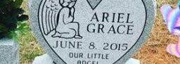Ariel Grace Grave Stone