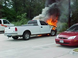 Ford Truck on Fire