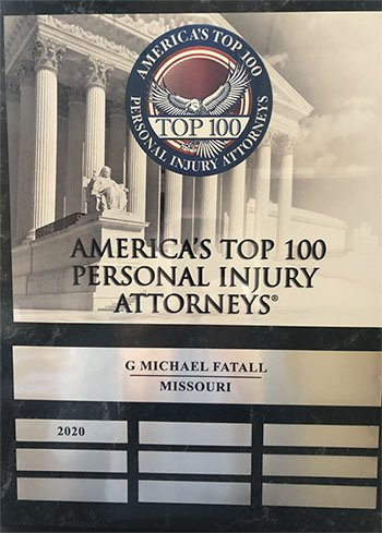 Top 100 Personal Injury Attorneys award for 2020