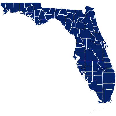 florida vector map