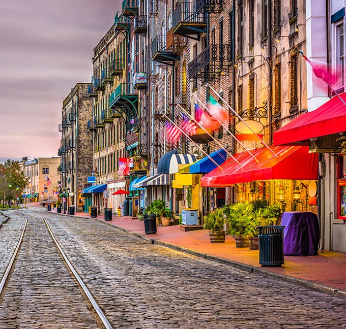 River Street in Savannah, Georgia