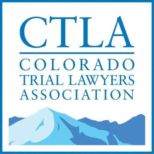 Colorado trial lawyers association logo badge