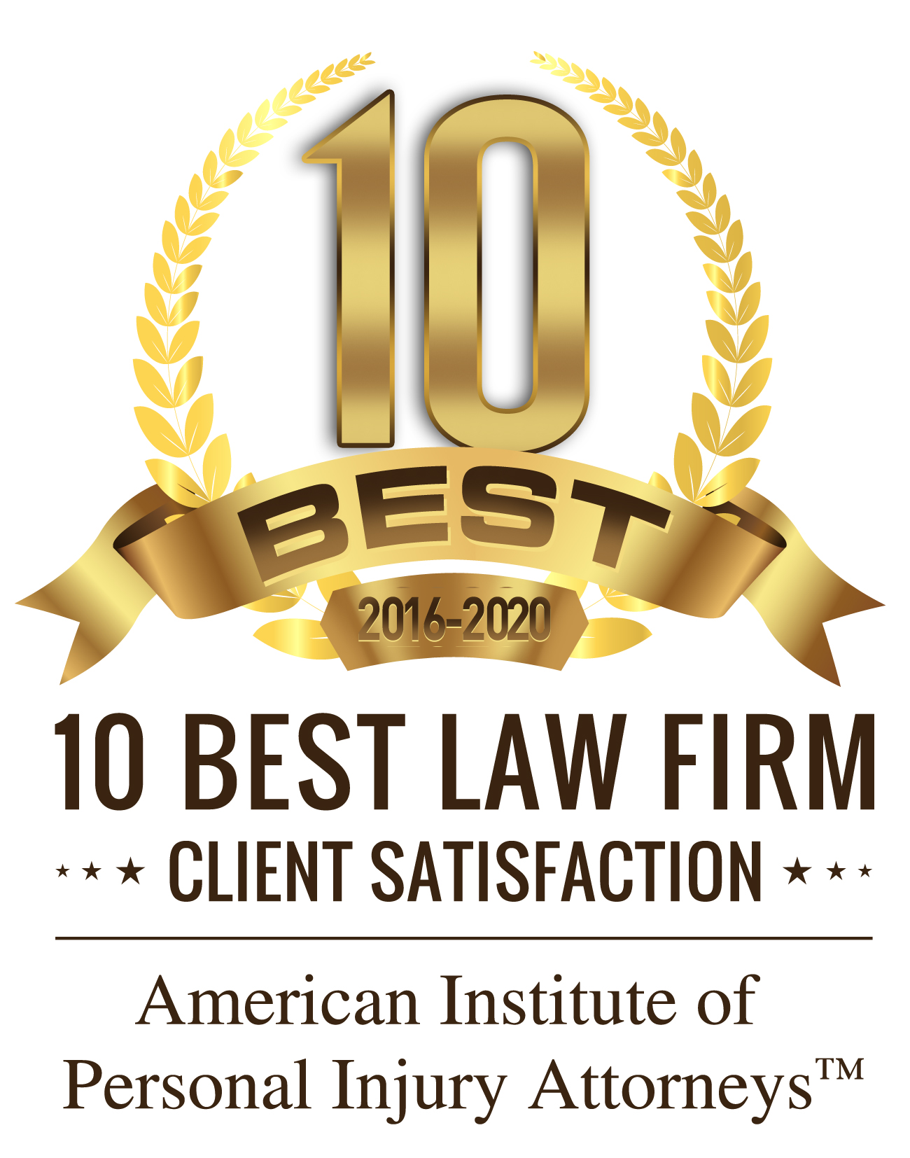 10 Best Law Firm Client Satisfaction Badge