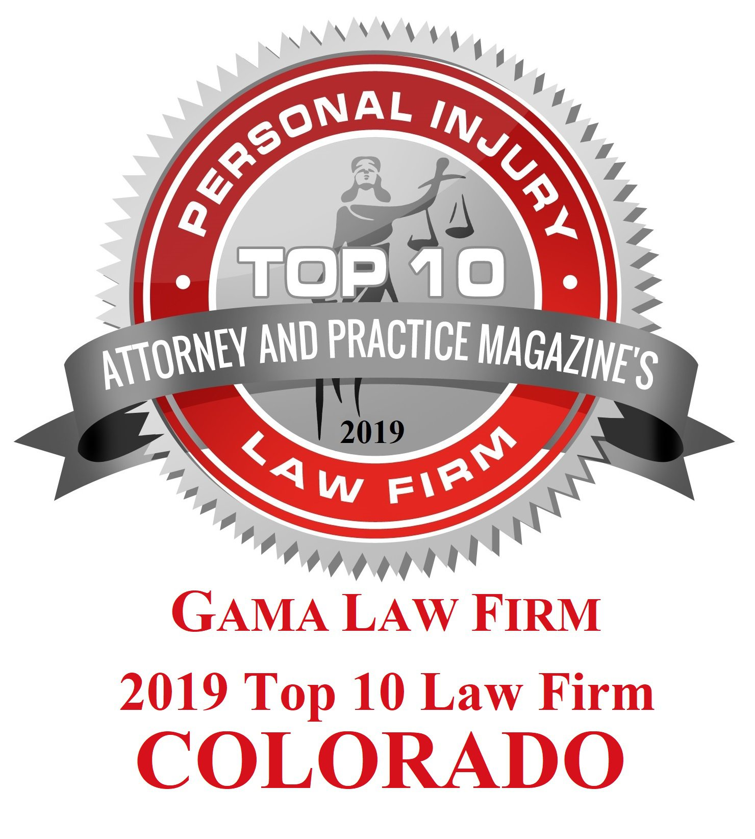 Attorney Magazine Top 10 logo badge
