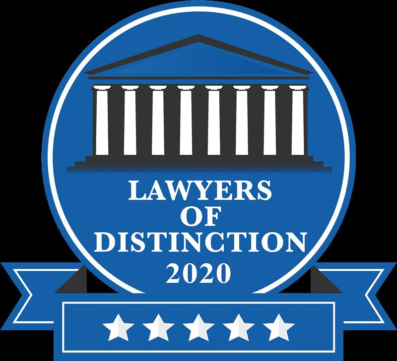 Lawyers of Distinction 2020 badge