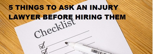 5 questions for injury lawyer