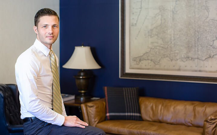 Attorney Zach Gerber in his office