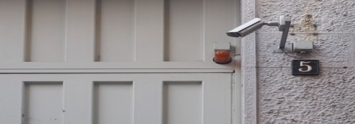 Security Camera mounted on a wall