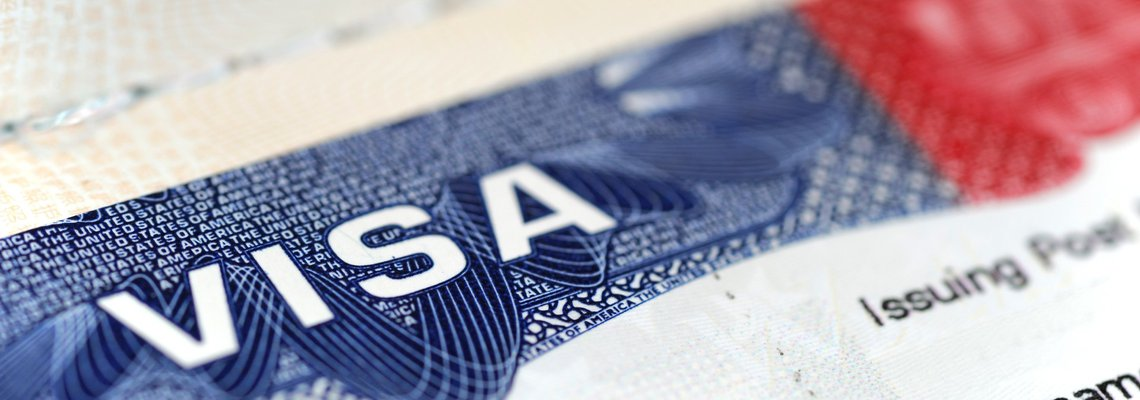 Picture of a US visa