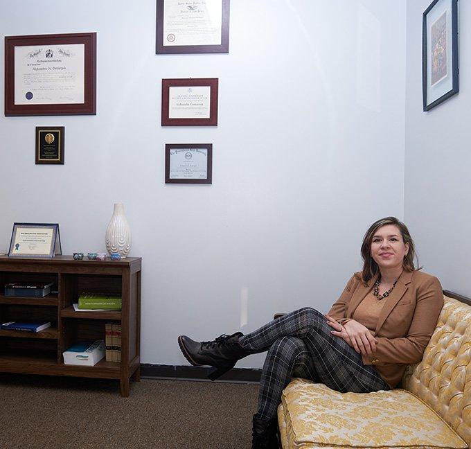 Aleksandra Gontaryuk in her office