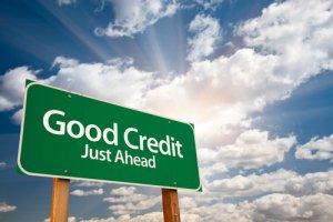Good Credit Ahead Sign