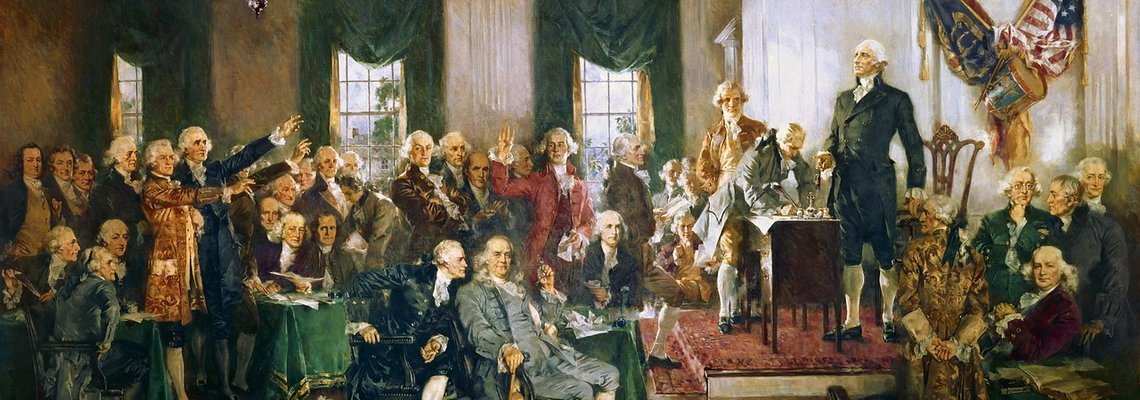 Painting of the founding fathers