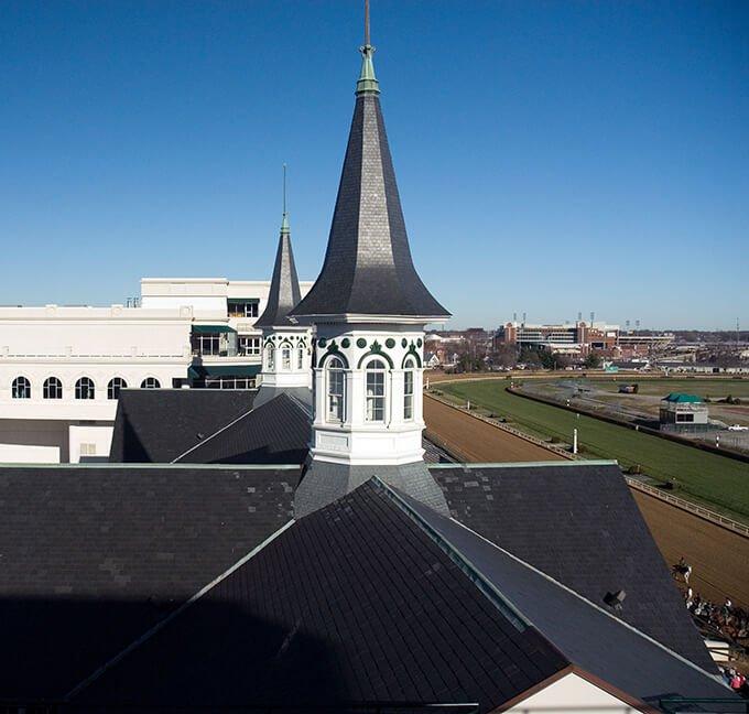 Twin spires in Louisville, Kentucky