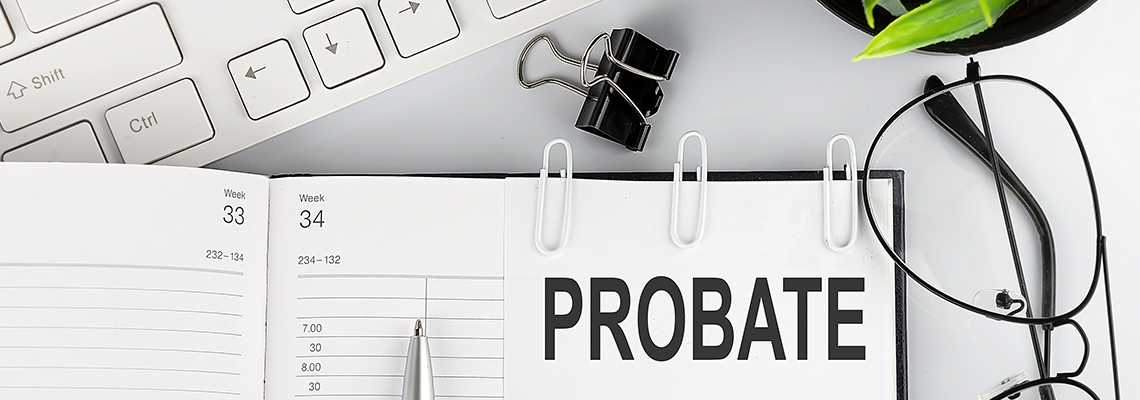 A personal calendar with the word probate attached