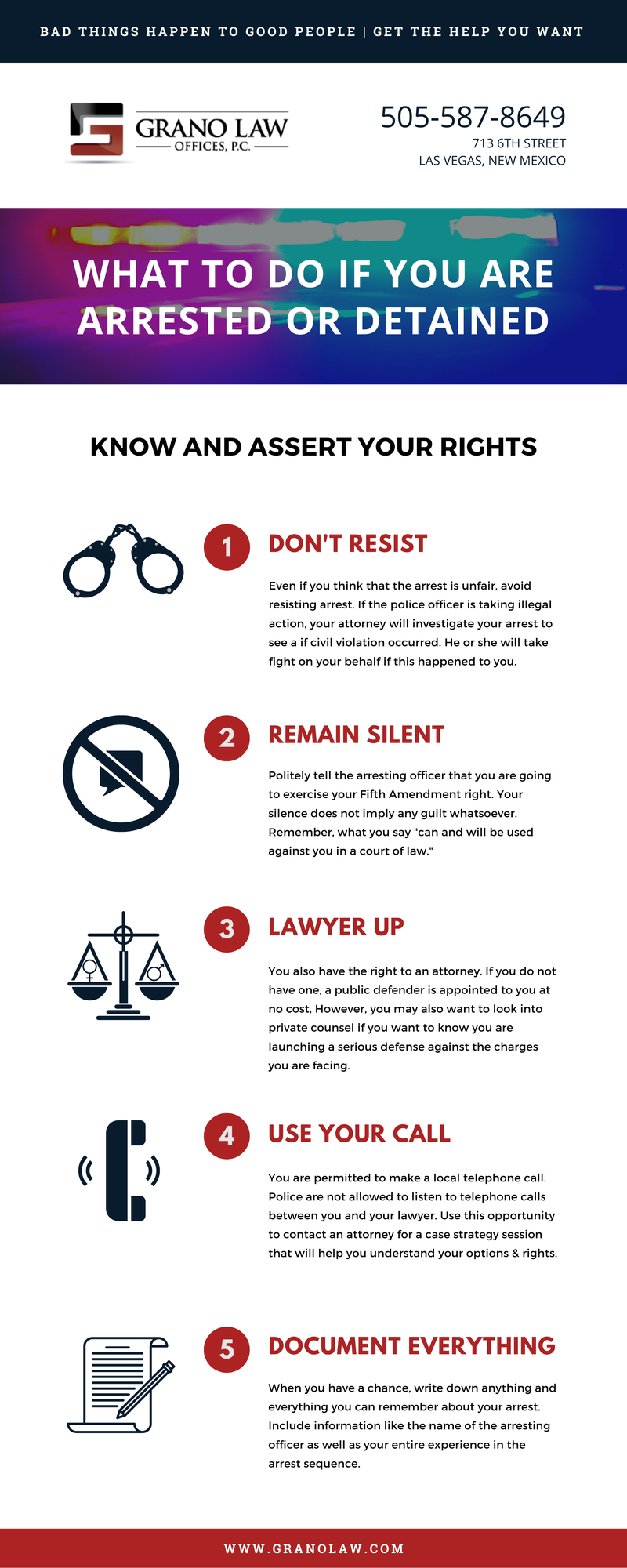 [INFOGRAPHIC] What to Do If You Are Arrested