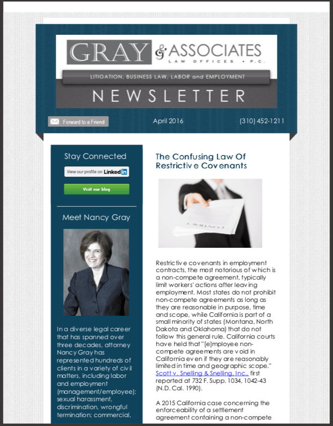 Gray & Associates April 2016 Newsletter
