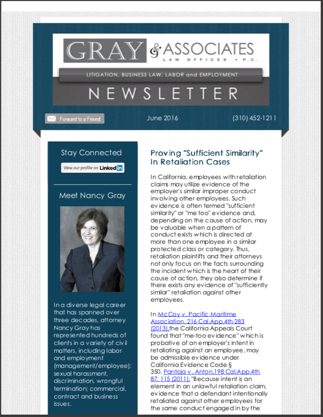 Gray & Associates June 2016 Newsletter