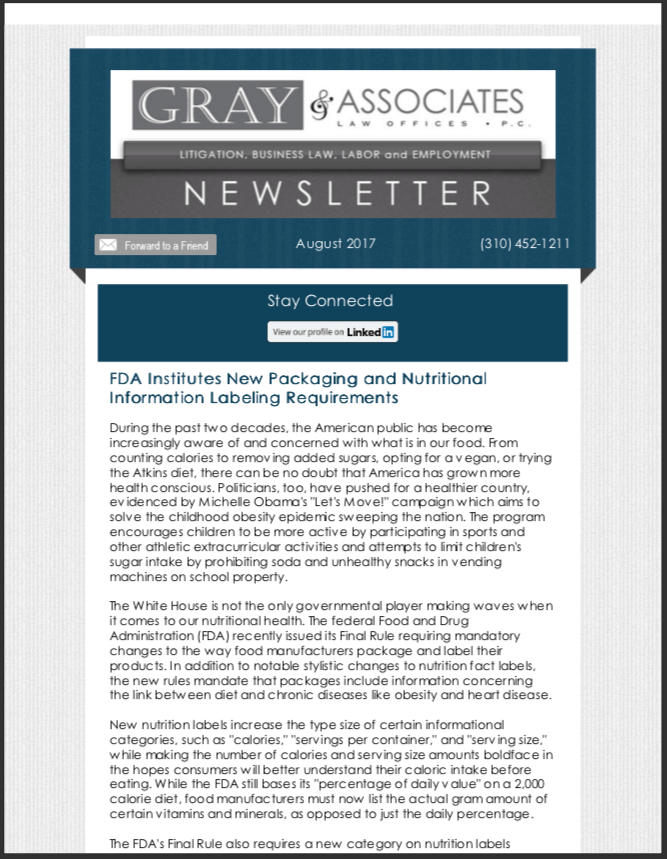 Gray & Associates August 2017 Newsletter