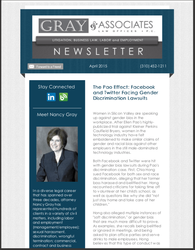 Gray & Associates April 2015 Newsletter