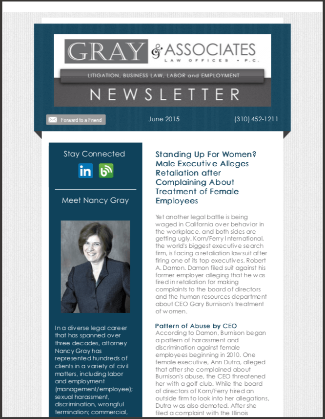 Gray & Associates June 2015 Newsletter