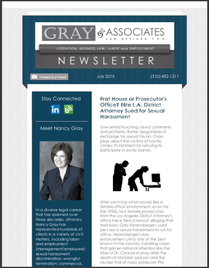 Gray & Associates July 2015 Newsletter