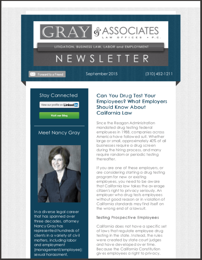 Gray & Associates September 2015 Part 2 Newsletter