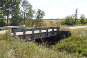 bridge going across creek
