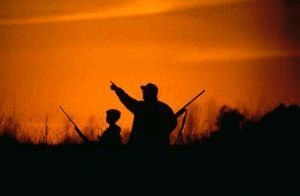 Adult and Kid hunting