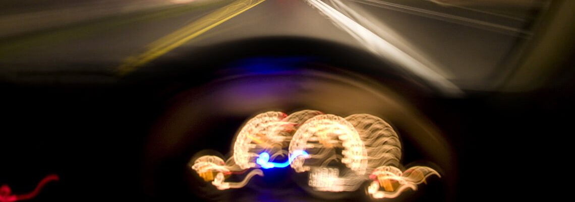 Blurry dashboard of a car