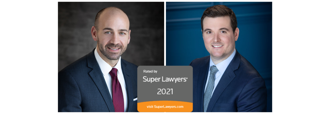 Shawn and Marco with Super Lawyers Logo