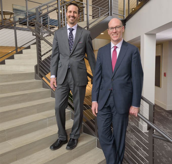 attorneys hebets and mccallin on stairs