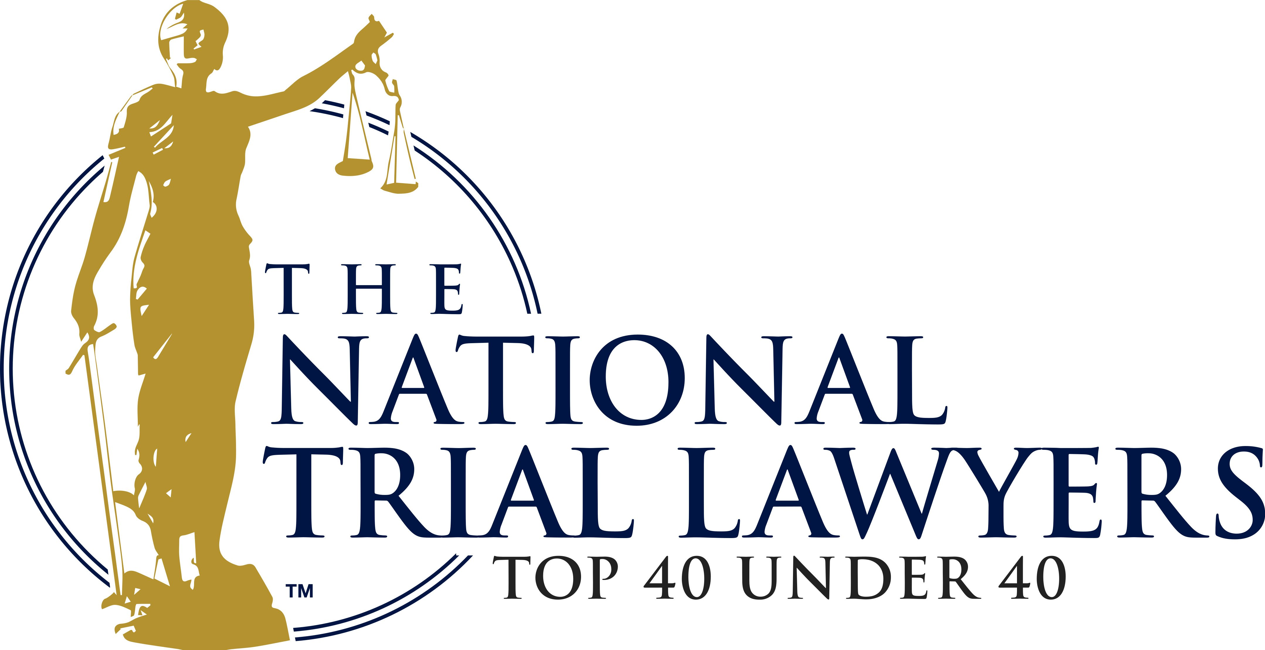 National Trial Lawyers Top 404 Under 40 Badge