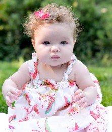 Baby girl in grass