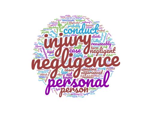 negligence word cloud