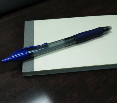 pen on notepad