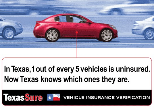 Infographic 1 out of every 5 vehicles in Texas is uninsured