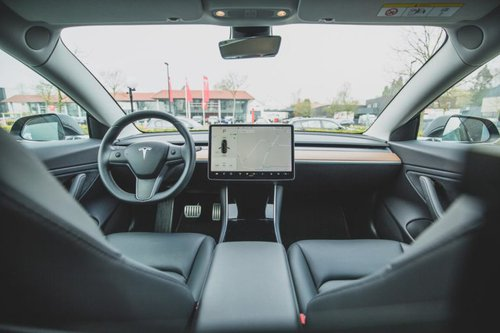 Interior of a tesla