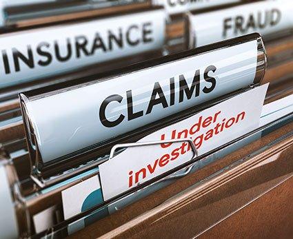 Insurance, fraud, claims, and under investigation filing folders