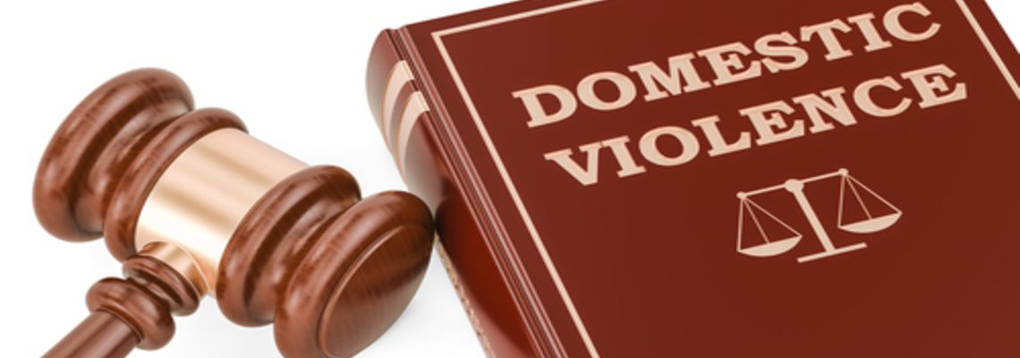 Domestic Violence Law Book and Gavel