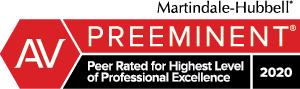 Preeminent peer rater for highest level of professional excellence 2020