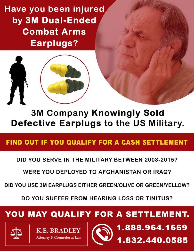 K Bradley Flyer for Earplug Lawsuit