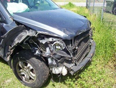 honda wrecked