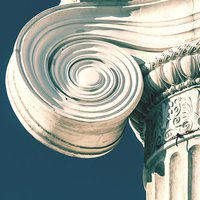 old style stone column