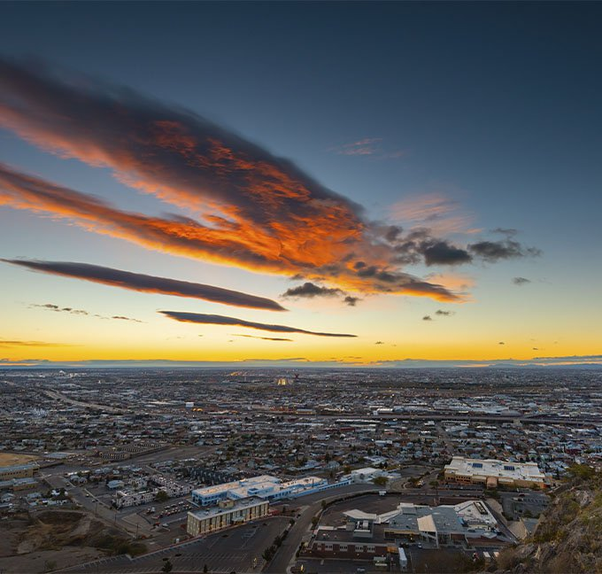 El Paso, Texas at sunset