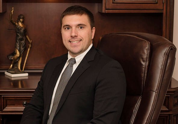 Attorney Landon Sanders in His Office
