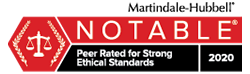 Peer Rated for Strong Ethical Standards 2020 Badge