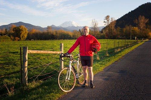Brian K. Leonard ready for a bike ride