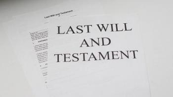 Last Will & Testament on a desk
