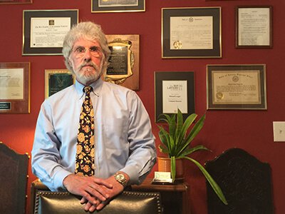 Attorney Richard L. Lougee in His Office